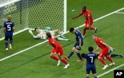 APTOPIX Russia Soccer WCup Belgium Japan