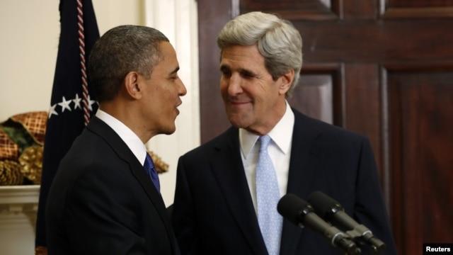 Predsednik Obama i Senator Džon Keri