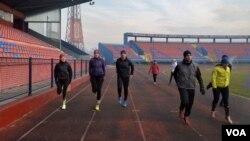 Banjalučki trkači na Gradskom stadionu Banja Luka