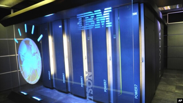 FILE - A photo provided by IBM shows the IBM computer system known as Watson, Jan. 13, 2011.