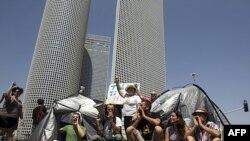 Протестующие в Тель-Авиве перекрыли дорогу