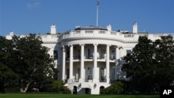 미국 수도 워싱턴의 백악관 건물. (자료사진)