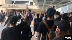 香港3位匿名资深法官最近接受路透社访问表示,香港的司法独立正受到来自北京领导层的攻击 (美国之音/汤惠芸)