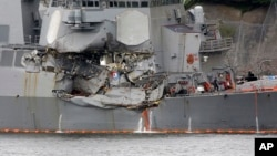 VOA Asia - U.S. Navy calls off search for sailors after deadly collision