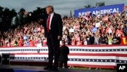 Cựu Tổng thống Donald Trump tại một buổi tập họp ở Sarasota Fairgrounds ngày 3/7/2021, ở Sarasota, Florida.
