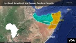 Somaliland and Puntland map