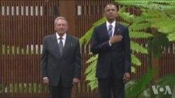 奥巴马与古巴领导人会晤