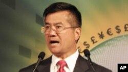 美国商务部长骆家辉27号在华盛顿强调经济复苏需要时日