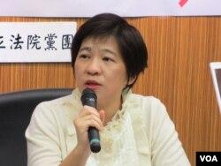 台联党立委 黄文玲 (美国之音张永泰拍摄)