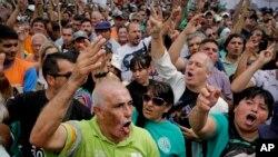 La manifestation dans les rues de Buenos Aires a rassemblé 100.000 personnes le 21 février 2018
