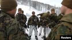 Морські піхотинці США під час спільних навчань у Норвегії, жовтень 2019