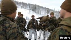 Морские пехотинцы США на границе Норвегии с Россией