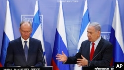 Встреча Биньямина Нетаньяху с Николаем Патрушевым. 24 июня 2019 г.