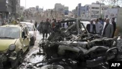 Дамаск: обломки взорванного автомобиля
