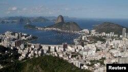 Vue panoramique de Rio de Janeiro où se tiennent les Jeux Olympiques.