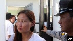မေလးရွား သတင္းေထာက္ Mok Choy Lin ထိန္းသိမ္းခံရစဥ္ (ဒီဇင္ဘာလ ၄ ရက္ေန႔)
