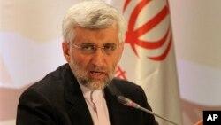 Juru runding Iran, Saeed Jalili mendesak negara-negara Barat agar mengakui hak-hak Iran untuk memperkaya uranium (foto: dok).