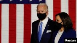 Democratic presidential candidate Joe Biden and vice presidential candidate Senator Kamala Harris