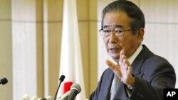 2012年10月25日东京都知事石原慎太郎在东京新闻发布会