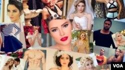 Gambar para model perempuan Iran yang mengunggah foto mereka ke dunia maya tanpa mengenakan penutup kepala (foto: dok).