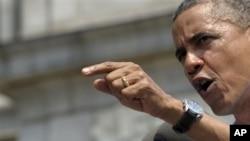 6일 피츠버그 카네기멜론대에서 연설하는 바락 오바마 미국 대통령.