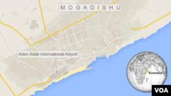 Peta wilayah Mogadishu.