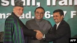 Хамид Карзай, Асиф Али Зардари и Махмуд Ахмадинежад