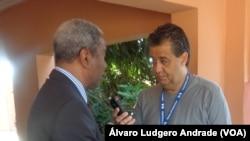 António Mascarenhas Monteiro, em conversa com a VOA, Abril de 2014 em Bissau