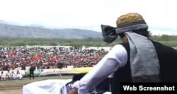 اورکزئی میں عمران خان کے جلسے کا ایک منظر۔ 19 اپریل 2019