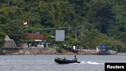 Pulau Nusakambangan, tempat hukuman mati dilaksanakan tahun lalu.