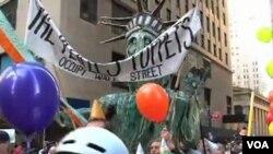 ພວກປະທ້ວງຕໍ່ຕ້ານຕະຫຼາດຄ້າຮຸ້ນຫຼື Occupy Wall Street