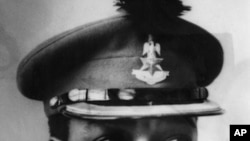 Biafran leader, Lietenant Colonel C. Odumegwu Ojukwu, military governor of East Nigeria is seen in this 1966 file photo.