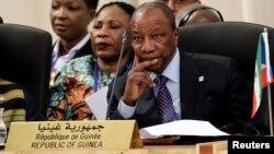 Alpha Condé, président en exercice de l'Union africaine, 16 novembre 2016.