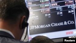 Cotizaciones de JP Morgan Chase en Wall Street.