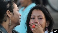 온두라스 교도소 화재현장의 사망자 유가족