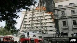 Mısır İçişleri Bakanlığında Yangın Çıktı