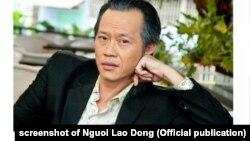 Ảnh nghệ sĩ hài Hoài Linh trên trang web của báo Người Lao Động hôm 24/5/2021.