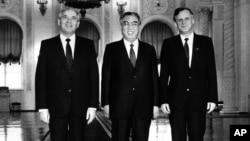 Ким Ир Сен и Михаил Горбачев, 1986. AP Photo
