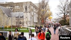 美國費城天普大學校園一景。