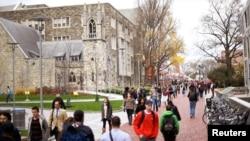 L'Université Temple, Philadelphie, Pennsylvanie, le 1er décembre 2016.