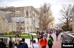 Sinh viên tại trường đại học Temple ở Philadelphia, bang Pennsylvania.
