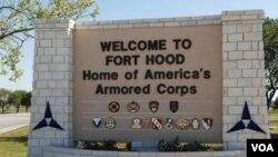 Fort Hood, pangkalan Angkatan Darat AS di negara bagian Texas.