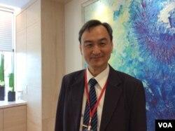 台灣科技部政務次長蘇芳慶博士(美國之音申華 拍攝)