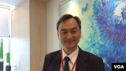 台湾科技部政务次长苏芳庆博士(美国之音申华 拍摄)