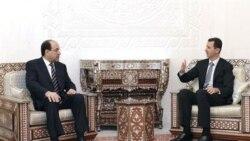 آقای مالکی در دمشق با بشار اسد، ریس جمهوری سوریه، ملاقات کرد و درباره تقویت مناسبات بین دو کشور با وی به تبادل نظر پرداخت