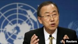 Sekjen PBB Ban Ki-moon hari Rabu (19/3) menuju Moskow dan Kyiv dalam upaya membantu menengahi krisis Krimea (foto: dok).