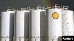 Fasilitas penyimpanan Shell Kanada di Red Deer, Alberta, Kanada.
