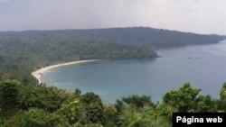 Vista da Ilha do Príncipe
