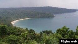 Ilha do Príncipe no arquipélago de São Tomé e Príncipe