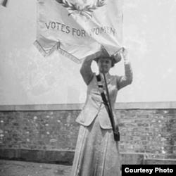 妇女投票权运动领袖之一苏珊•安东尼(Library of Congress Prints & Photographs)